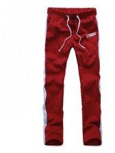 Hot Fashion Color Block Drawstring Tie Slim Pants