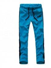 Modern Trendy Drawstring Tie Slim Pants In Blue