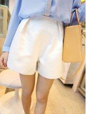 Korean Stylis Pure Color Silk Short Pants