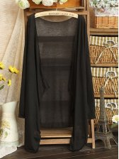 Summer New Collarless Blouse In Black