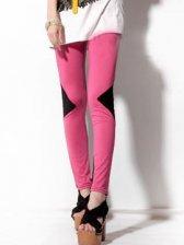 Hot New Woman Slim Leggings In Rose