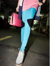 Fashion Arrival Color Block Slim Leggings