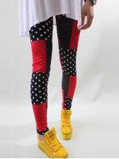 Spring Style Polka Dots Color Block Legging