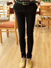 Fashion Man Natural Waist Side Pocket Long Pants