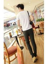 Modern Man One Button Pocket Slim Long Pants