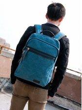 Japanese Fashion Pocket Zipper Canvas Backpack