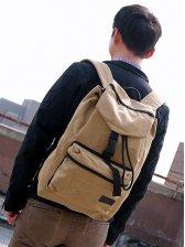 Hot Japanese Drawstring Tie Pocket Canvas Backpack