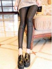 New Fashion Pure Color Natural Waist Slim Leggings