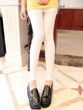 Korean Style Pure Color Natural Waist Slim Leggings