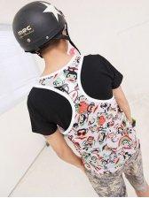 Summer New Fashion Male Round Neck Monkey Printing Vest
