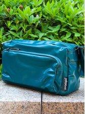 Wholesale Classy PU Pure Color Zipper Green Waist Bag