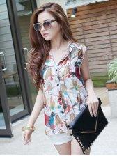 Summer Stylish Floral Printed Sleeveless Blouse