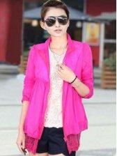 Hot Sale Turn Collar Zipper Long Sleeve Short Coat
