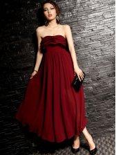 Women Stylish Lined Flouncing Tube Maxi Dress