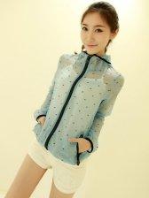 New Fashion Long Sleeve Dot Short Coat