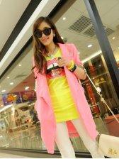Hot Woman Half Sleeve Pocket Rose Suit