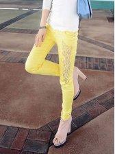 Hot Spring Empire Waist Yellow Skinny Leggings