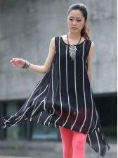 Hot New Summer Chiffon Two-piece Dress with Belt