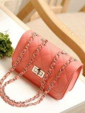 Hot Summer Diamond Pattern Pure Color One Shoulder Bag