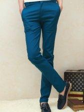New Fashion Pocket Low Waist Blue Long Pants