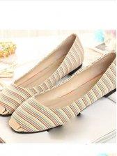 Vogued Lady Square Metallic Toe Flat Shoes