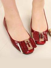 Stylish Fashion Buckle Snake Flat Shoes