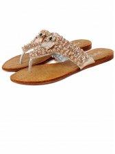 Summer Cute Fox Diamonds Beaded Slippers