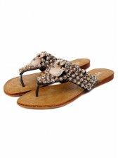 Cute Fashion Fox Diamonds Beaded Slippers