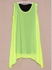 Hot Summer Asymmetrical Hem Dress With Belt