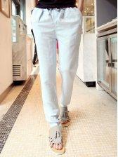 Men Stylish Color Block Pockets Design Long Pants