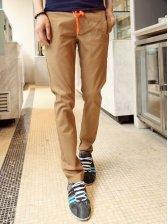 Vogued Men Low Waist Cotton Casual Long Pants