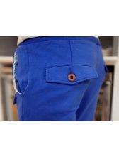 Men Fashion Drawstring Cotton Long Pants
