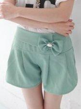 Romantic Girlish Bow Natural Waist Slim Hot Pants