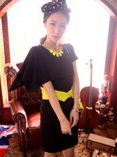 Fashion Korean Color Matching Pocket Two-piece Dress