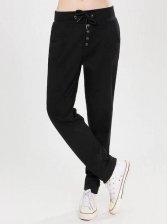 Korean Style Drawstring Casual Long Pants