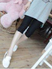 Modern Trendy Pure Color Side Zipper Skinny Pants
