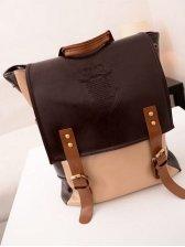 Hot Sale Color Block Pockets Zipper Opening Backpack