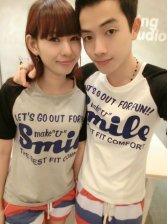 Summer Cute Printing Short Sleeve Couple Shirts