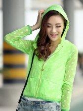 Fashion Sweet Zipper Hooded Long Coat