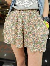 Summer Stylish Floral Print Chiffon Short Pants