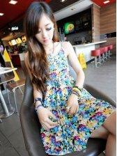 Hot New Summer Chiffon Straps Sun Dress