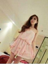 Summer Fashion Solid Color Off-shoulder Tube Dress