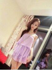 Top Fashion Boat Neck Tube Dress In Purple
