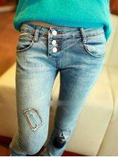 New Korea Style Fashion Patch Cloth Harem Jeans