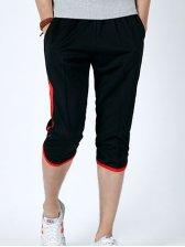 Summer New Style Color Block Three-Quarter Pants