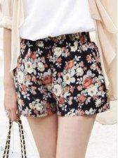 Hot Summer Floral Print Chiffon Short Pants