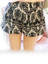 New Fashion Flower Printing Side Pockets Short Pant