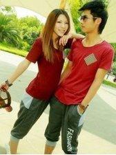 Summer Fashion Short Sleeve Cotton Couple Activewear