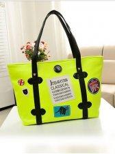 Sweet Girls Flower Print Color Block One Shoulder Bag