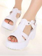 Hot Sale Cowhells Platform PU Sandals